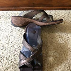 NEW Merrell Sundial Bronze Brown Leather Sandals 7